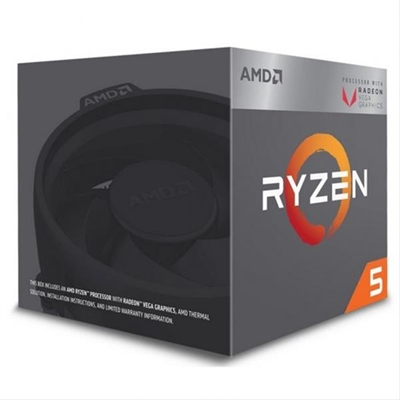 AMD RYZEN 5 2400G 3.9GHZ 4 CORE 6MB SOCKET AM4 RX VEGA