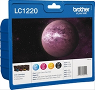 TINTA BROTHER LC1220 NEGRO + 3 COLORES