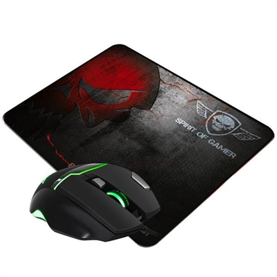 PRO GAMING PACK SPIRIT OF GAMER RATON + ALFOMBRILLA