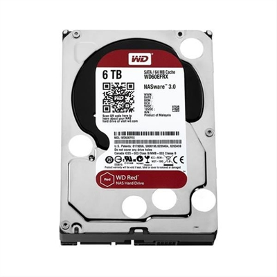 "HD 3.5"" WESTERN DIGITAL 6TB  SATA3 64MB RED"
